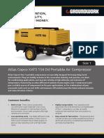 Atlas Copco 300 Cfm XATS 156 Dd