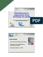 Materiales Para La Organizacion Eficaz Del Tiempo de Estudio-Universidad de Cadiz
