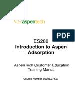 Introduction Aspen Adsorption
