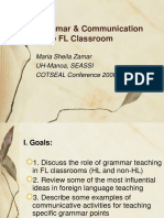 Grammar & Communication in the Foriegn Language Classroom