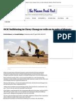 OCIC Bulldozing in Chroy Changvar Rolls on in Spite of Dispute, National, Phnom Penh Post