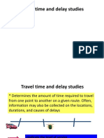 Travel Time Study