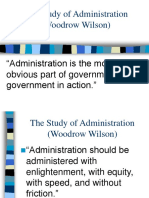 The Study of Administration Wilson Class 3