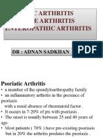 Psoriatic Arthritis د. عدنان Lec 9