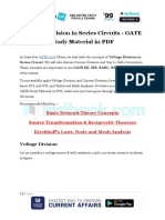 Voltage Division in Series Circuits - GATE Study Material in PDF (1)