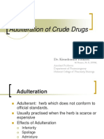 Adulteration of Crude drugs