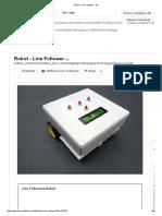 Robot - Line Follower Instructable