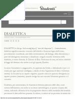 DIALETTICA in _Enciclopedia Italiana