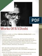 works of B.V DOSHI