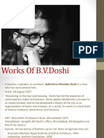 works of B.V DOSHI