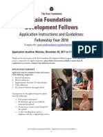 AFDF 2018 Application Guidelines and Instructions