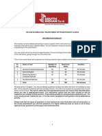South Indian Bank Clerk Information Handout
