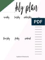 5.5x8.5 Weekly Plan Printable