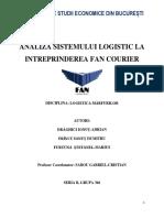 Analiza sistemului logistica FAN Courier
