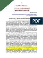 Christian Duquoc Jesús Hombre Libre