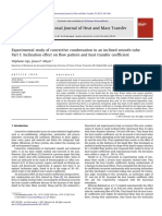 Inclination Effect on Flow Pattern and Heat Transfer Coefficient