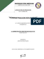 Administracion Como Proceso Educativo