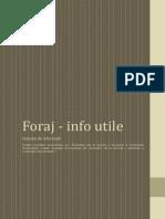 Foraj - Info Utile