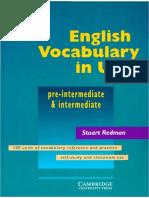English Vocabulary in Use (Pre-Intermediate-Intermediate)