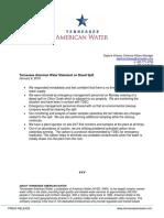 Tennnessee American Water Statement on Diesel Spill