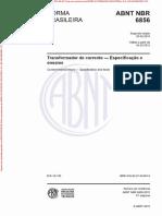 NBR 6856 - 2015 - Transformador de Corrente - Especificaçõe e Ensaios