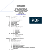 Rail Vehicle Dynamics Course -Dec2017