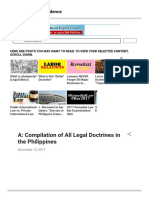 A Compilation of All Legal Doctrines