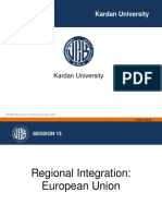 Regional Integration, Eu