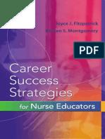 Dr Fitzpatrick, Dr Montgomery-Career Success Strategies for Nurse Educators-F.a. Davis Company (2006)