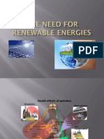 The Need for Renewable Energies