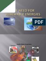 The Need for Renewable Energies