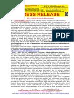 20180110-PRESS RELEASE Mr G. H. Schorel-Hlavka O.W.B. ISSUE - Re Sex, Etc, the Constitution