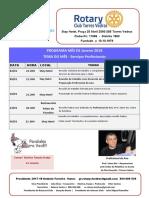 Programa Mês de Janeiro 2018 RCTV