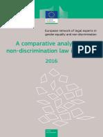 comparativeanalysisofnon-discriminationlawinEurope