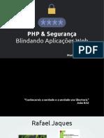 Php e Seguranca - Blindando Aplicacoes Web