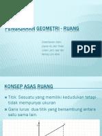 Pengajaran Geometri - Ruang