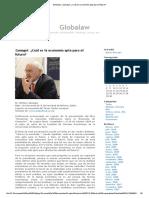 Globalaw » Zamagni_ ¿Cuál Es La Economía Apta Para El Futuro