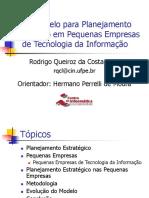 Um Modelo Para Planejamento Estratégico Em Pequenas Empresas de Tecnologia Da Informação