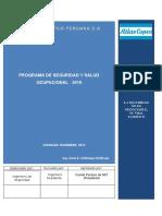 Programa Anual de Seguridad Salud Ocupacional 2016 Atlas Copco