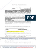 ACTA DE SESIÓN EXTRAORDINARIA  DE ÓRGANISMO ESCOLARnuevo