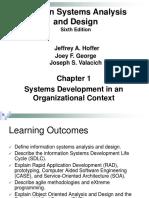 Week 01 Systems Development in an Organizational Context