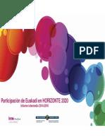Participacion de Euskadi en Horizonte 2020 Informe Intermedio 2014 2016 59e9ca0466615