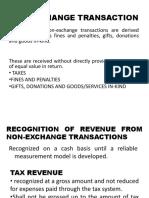Jorge Non Exchange Transaction