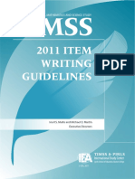 TIMSS 2011 Item Writting Guidelines
