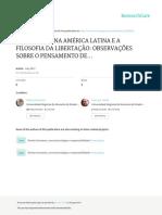 A Cidadania Na America Latina e a Filosofia Da Libertação