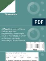 Scales vs. Dimensions
