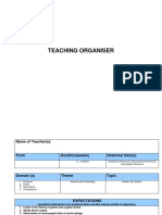 Teaching Organiser Chapter 6