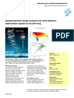 Multidisciplinary Design Analysis and Multi-objective Optimization Applied to Aircraft Wing