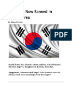 Bitcoin is Now Banned in South Korea