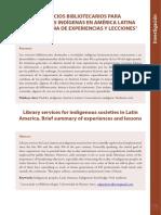 Servicios bibliotecarios para sociedades indígenas